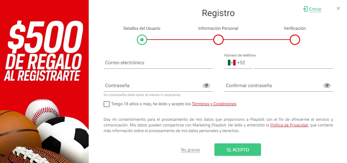 Playdoit registrarse